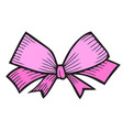 bow isolated on white vector image vector image