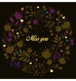 Brown floral ring Miss you vector image