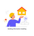 building project concept vector image
