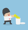 Businessman throw his ego into the trash 380x400 vector image