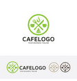 Cafe logo design vector image