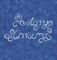 Christmas background Merry Christmas lettering vector image vector image