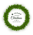 christmas wreath traditional pine round garland vector image vector image