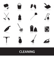 cleaning icons set eps10 vector image vector image