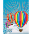 Colorful Hot Air Balloons4 vector image vector image