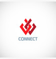 connect shape colored logo vector image