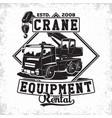 crane emblem design vector image vector image
