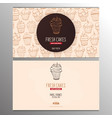 cupcake or cake business card template for bakery
