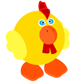 cute little rooster vector image