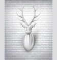 deer with horns 3d sculpture vector image vector image