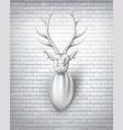 deer with horns 3d sculpture vector image