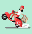 delivery sketch girl vector image vector image
