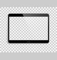 device mockup transparent screen background vector image