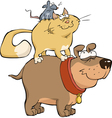 dog cat and mouse vector image vector image
