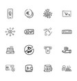 doodle cripto-currecy icons set vector image