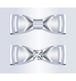 Double Elegant White Silk Bows with Diamond vector image vector image