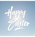 Easter sign - Happy Easter Easter wish overlay vector image vector image