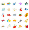 family fun icons set isometric style vector image vector image