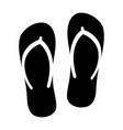 flip flops sandal beach wear flat icon vector image