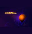 futuristic banner dedicated to basketball theme vector image