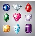 gemstones set vector image vector image