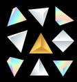 glossy platonic solids set vector image vector image