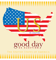 Good day voting results US election vector image vector image