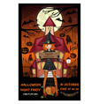 halloween design card vector image