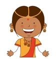 hindu girl character icon vector image