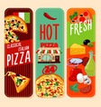 hot italian pizza vertical banners vector image vector image