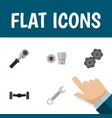 icon flat service set of wrench spherical joint vector image vector image