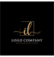 il initial handwriting logo with rectangle vector image vector image