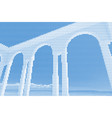 image collage of rotunda gazebo on the seafront vector image