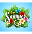 Inscription summer with vector image vector image