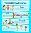 kindergarten characters infographics vector image vector image
