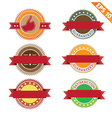 Label stitch template sticker tag - - EPS10 vector image