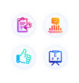 like hand smile and megaphone checklist icons set vector image vector image