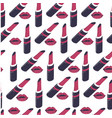 lipstick and lip gloss glamour cosmetic products vector image