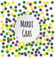 Mardi Gras background vector image vector image