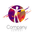 modern head logo of company brand human in the vector image vector image