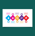 modern infographic for diagram vector image vector image