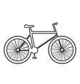 Mountain bike icon on white background vector image vector image
