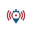 network alarm icon logo vector image