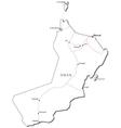 Oman Black White Map vector image