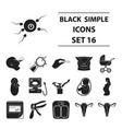 pregnancy set icons in black style big collection vector image
