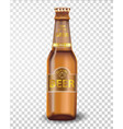 Premium beer bottle isolated on transparent