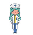 professional nurse with hat in the head vector image vector image