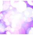 Purple bokeh lights vector image vector image