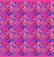 purple geometrical striped shape tile mosaic vector image vector image