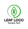 r leaf logo symbol icon sign vector image